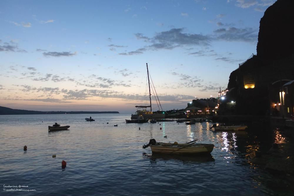 Santorini sunset 聖托里尼 夕陽