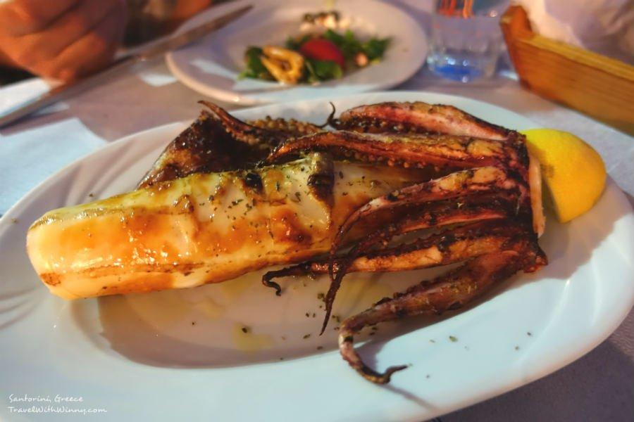 Grilled calamari 烤魷魚
