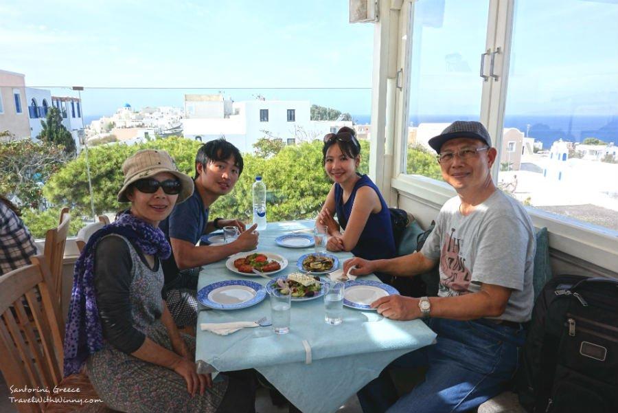 Petros Restaurant 聖托里尼 景色
