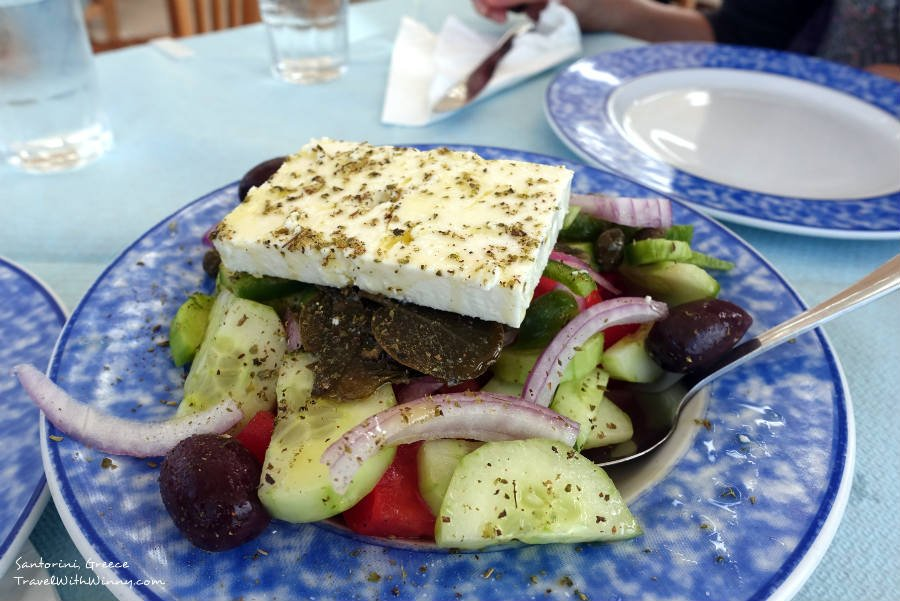 Greek Salad 希臘沙拉 Best place to stay in santorini