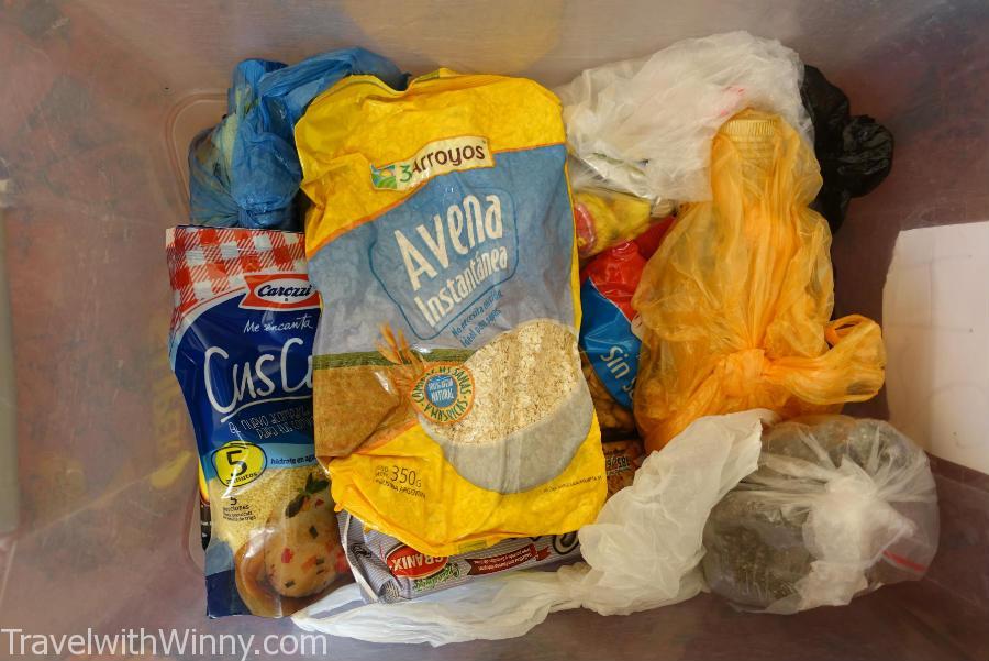 我們傻傻地從智利帶來這麼少乾糧, 結果這些都不是當地買最貴的物品.