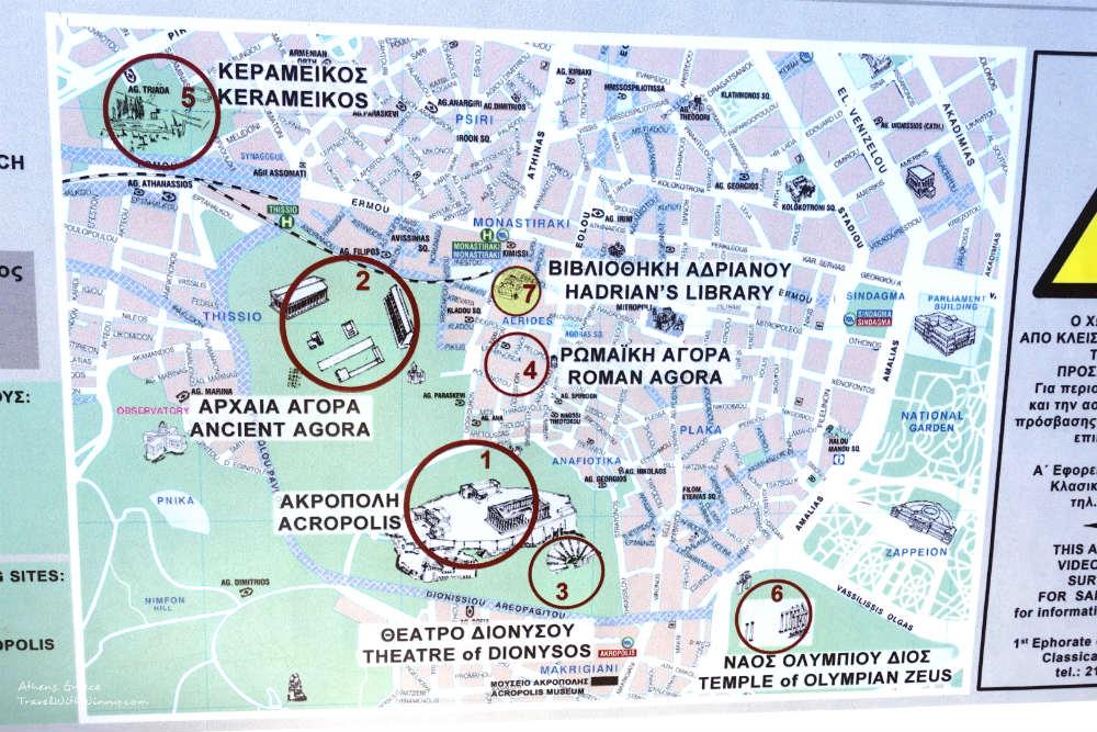 雅典 衛城 Acropolis Athens map 地圖