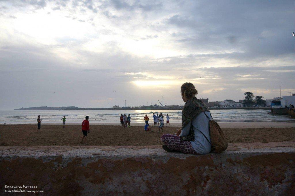 morocco 夕陽