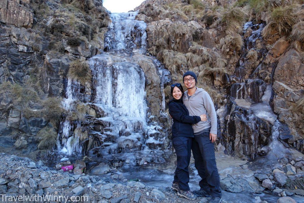 frozen waterfall 結冰 瀑布