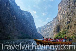 【墨西哥】快艇穿梭與美國大峽谷同齡的 Sumidero Canyon 蘇米德羅峽谷