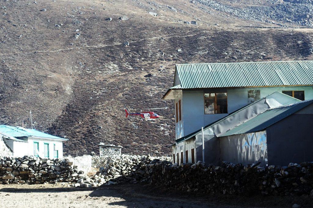 直升機 helicopter Dingboche 丁伯崎 EBC 聖母峰 himalayas 喜馬拉雅山