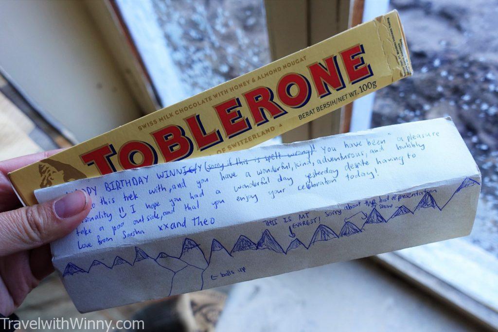 Toblerone 三角巧克力