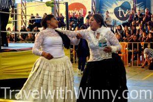 """揭祕 """"玻利維亞"""" 傳統 Fighting Cholita 女子摔角 @ La Paz"""