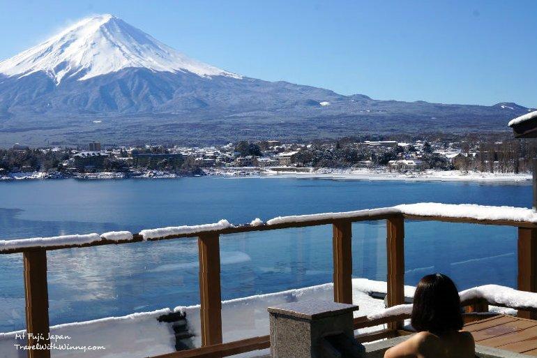 河口湖 湖山亭 富士山 ubuya mt fuji view