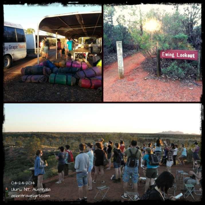 Everyone waiting for the Uluru Sunset
