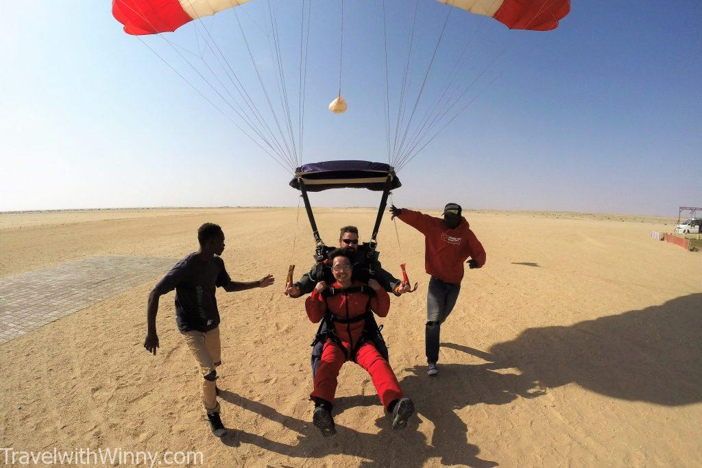 skydiving in Swakopmund namibia