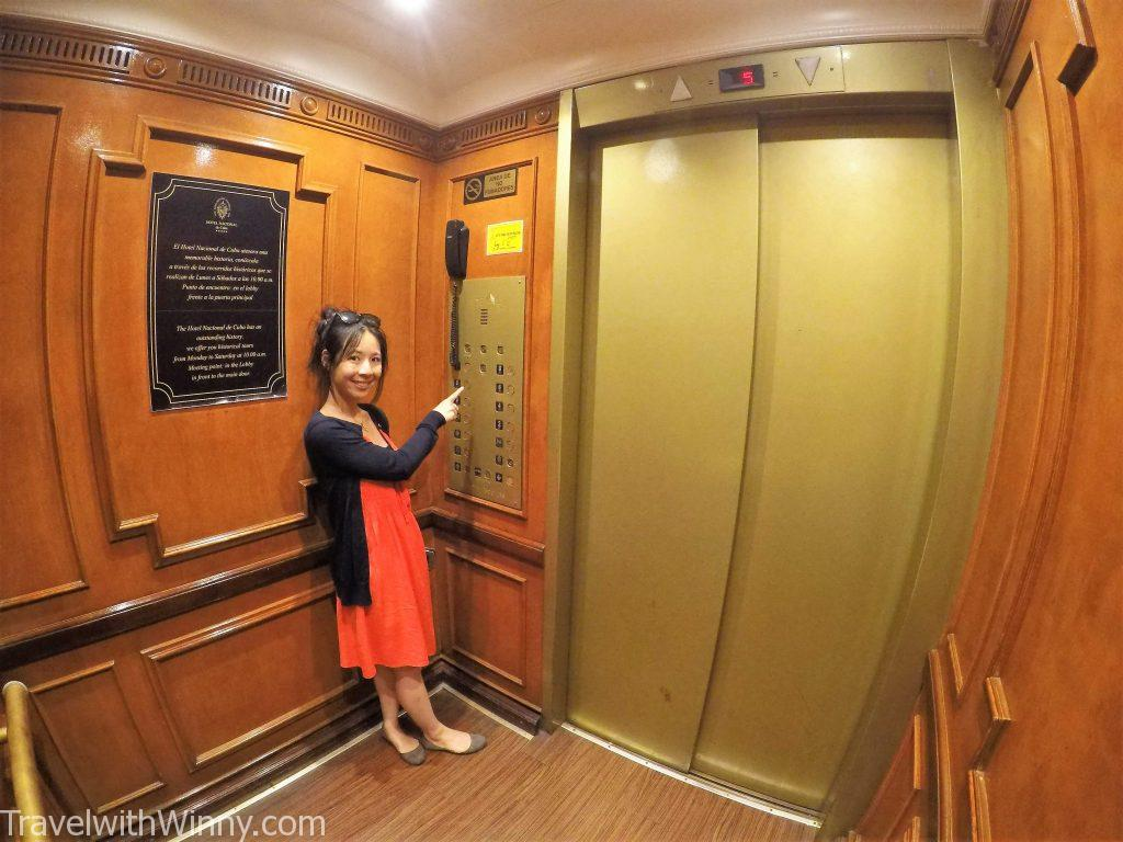 hotel nacional old elevator 電梯 古老 銅