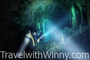 【墨西哥】馬雅神秘天然井:地下鐘乳石洞Dos Ojos Cenote 深潛