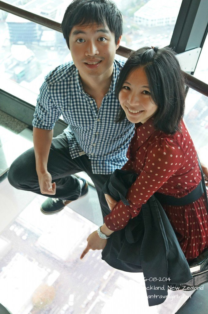 Glass floor on Level 51 Sky Tower Observation Deck