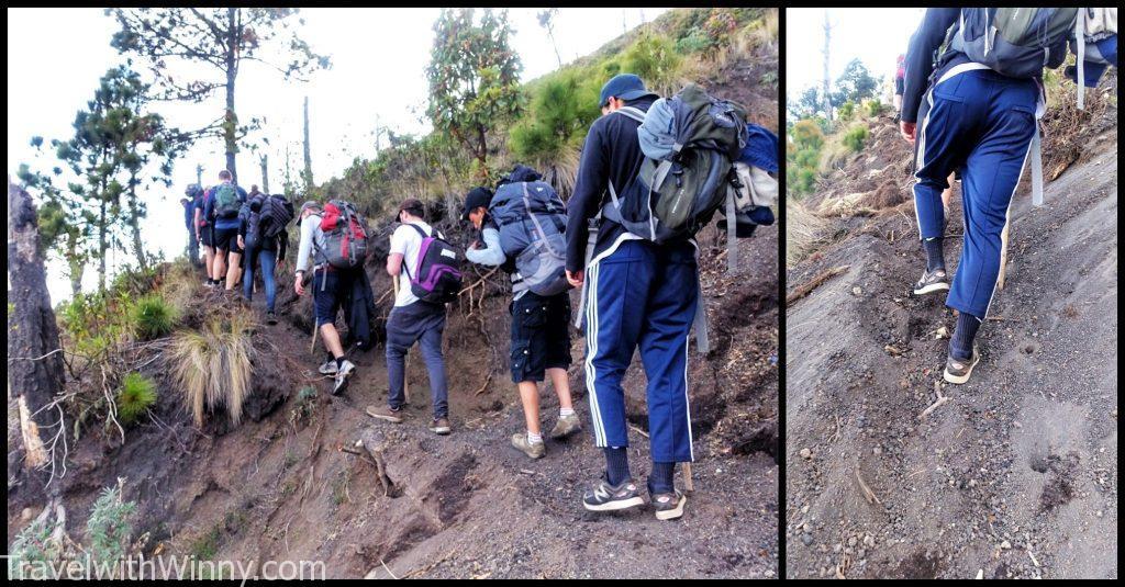 火山健行 hiking volcano
