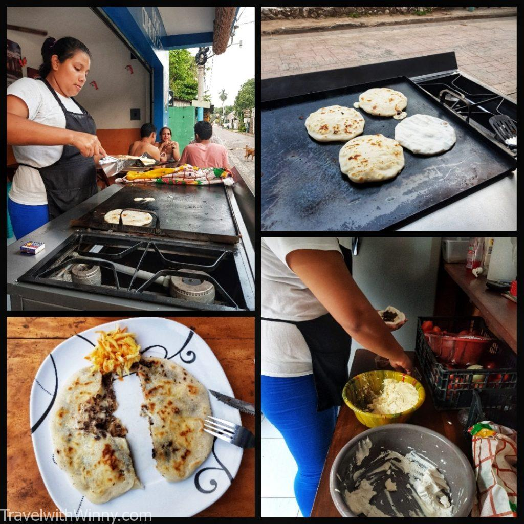 pupusa 普普沙 el salvador 薩爾瓦多 backpacking in Central America
