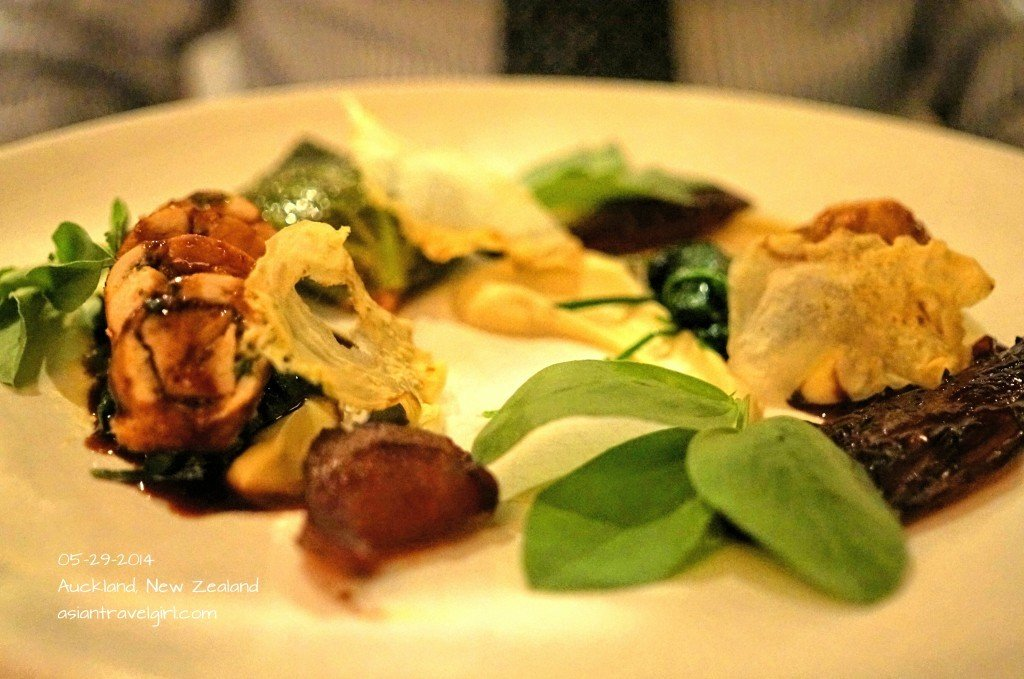 Roasted red-legged partridge with sweetbreads, creamed parsnip, figs and red endive @ The Grove Restaurant