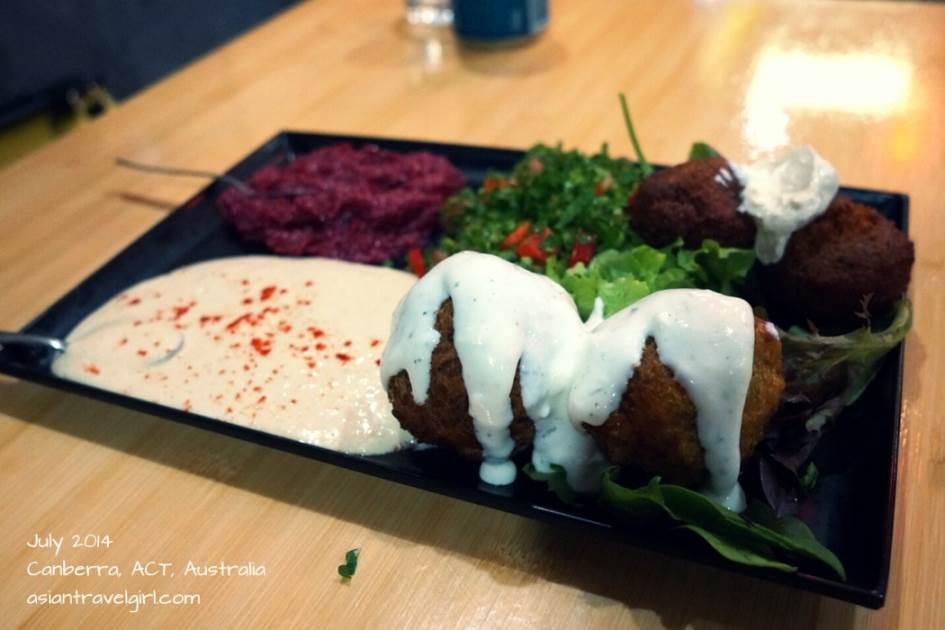沾麵包的醬, 跟 中東蔬菜球- 法拉非