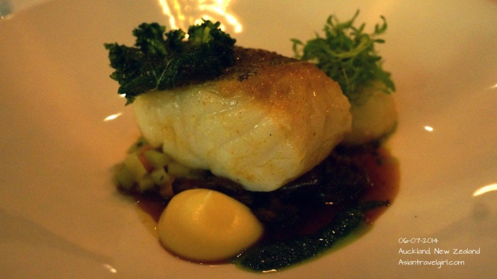 """""""The Main"""" Market Fish- butter poached crayfish, braised oxtail, root vegetables, parsley@The French Cafe"""