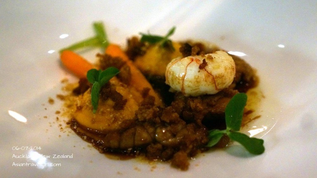 """""""The Second"""" Caramelised Veal Sweetbreads- languostine, carrots, almonds, gingerbread @The French Cafe"""