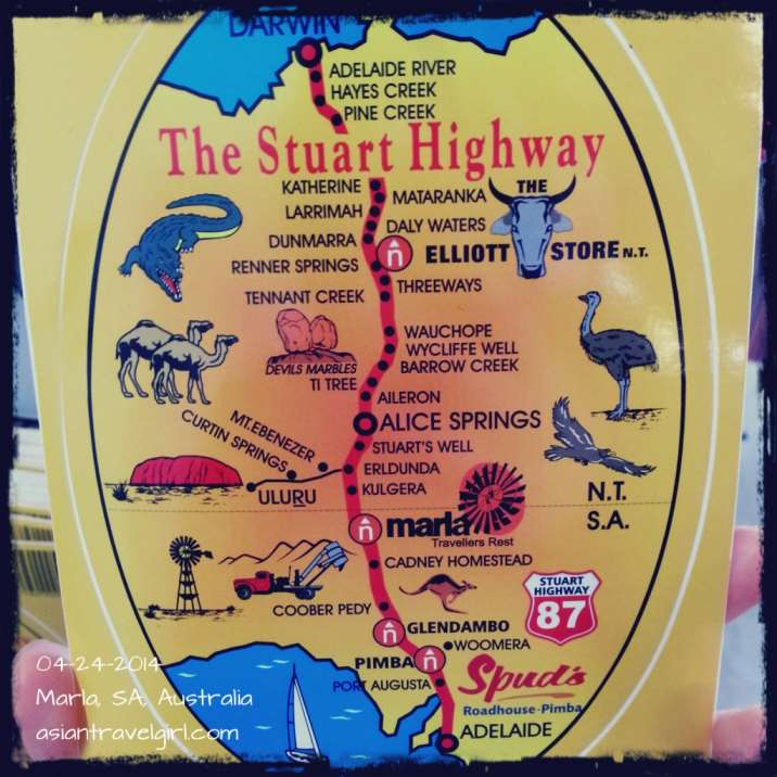 The postcard that fully explained what's on Stuart Highway