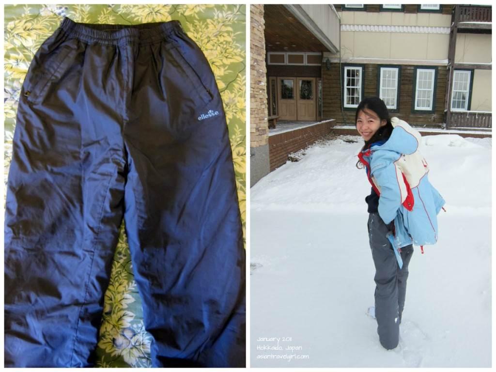Hokkaido Japan Women ski pants