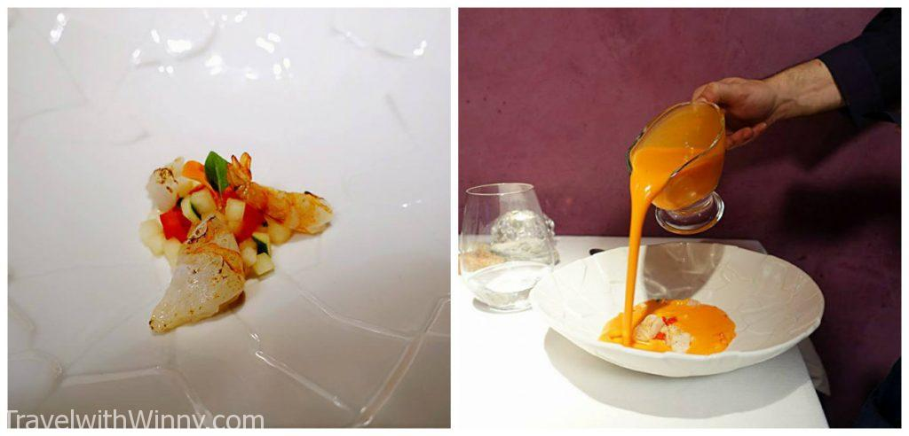 gazpacho con gambitas 西班牙涼菜湯