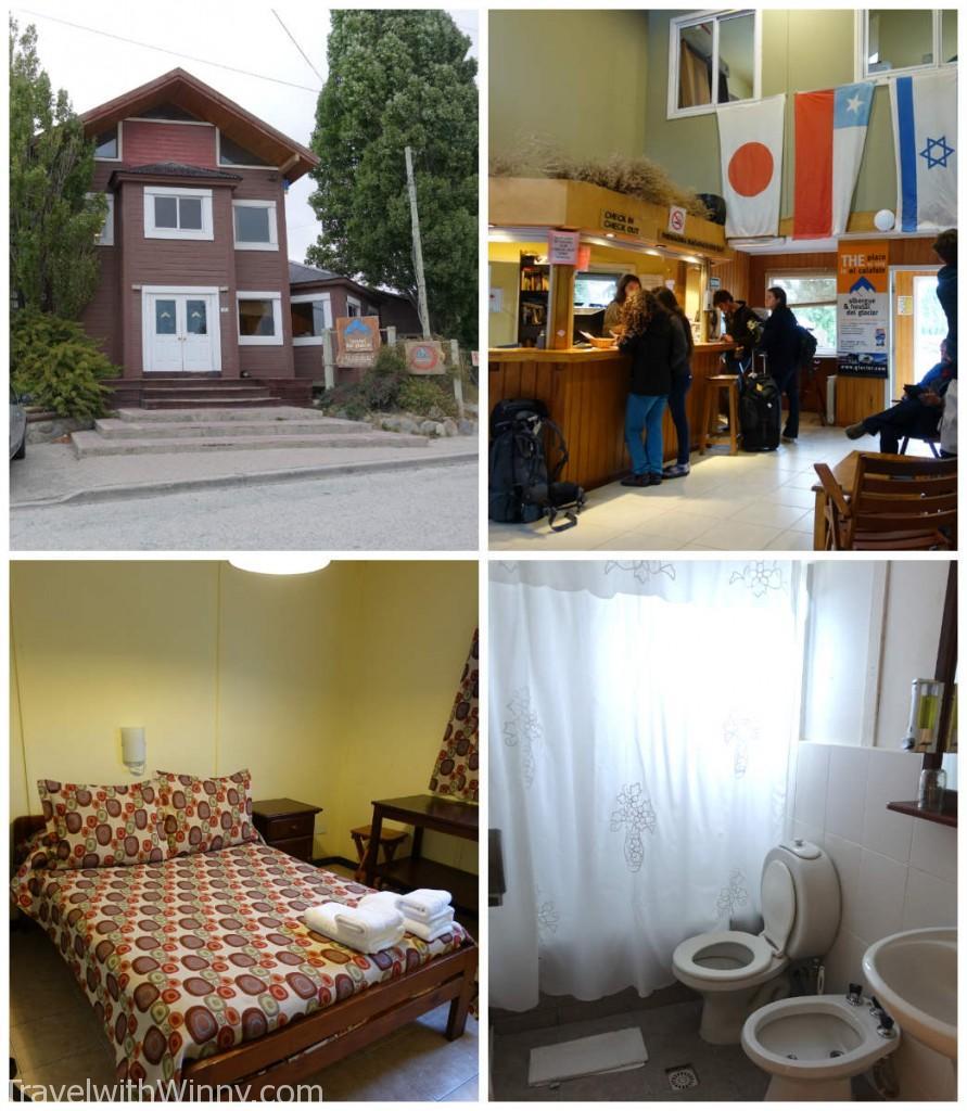 我們的 Del Claciar Hostel 其實還不錯, 以我們付的價錢已經很滿意了. 而且我們通常都喜歡擁有自己的浴室.