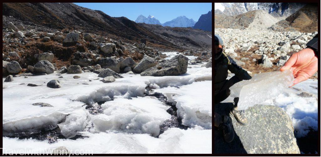 frozen river 冰 河 EBC 聖母峰 himalayas 喜馬拉雅山