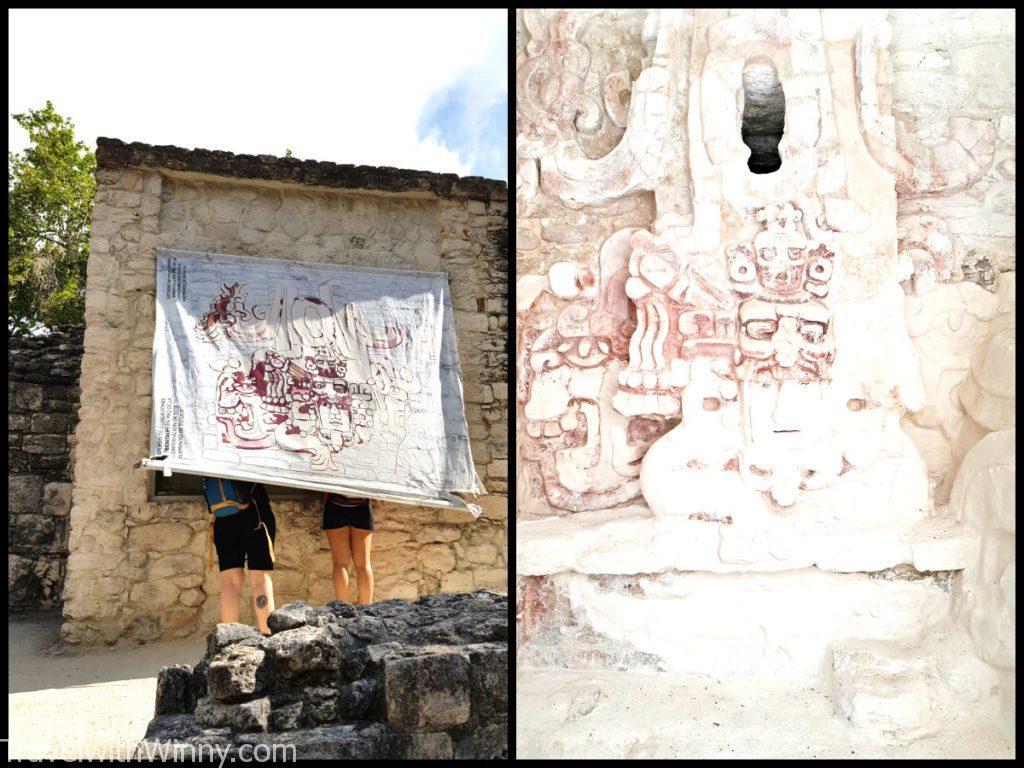 太陽神 Kinichna Becan mexico 馬雅遺址 墨西哥
