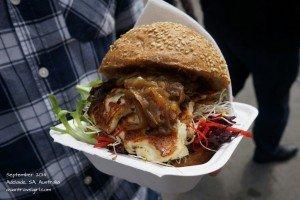 mushroom vegetarian burger